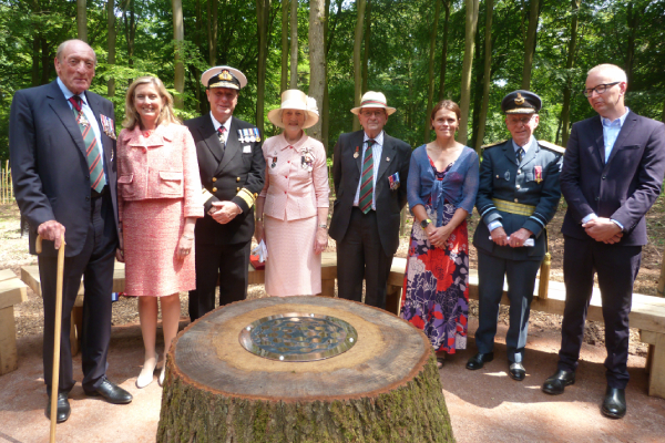 Woodland artwork dedicated as a memorial to the First World War